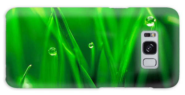 Macro Image Of Fresh Green Grass Galaxy Case