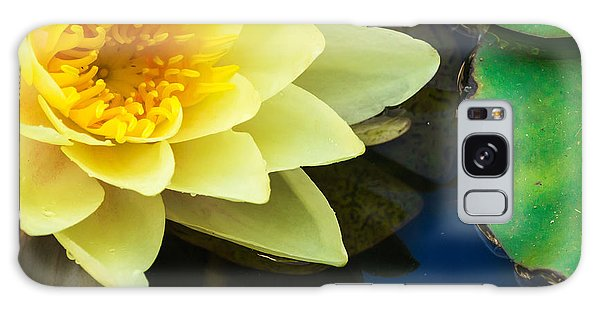 Macro Image Of Yellow Water Lilly Galaxy Case