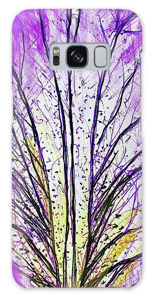 Macro Iris Petal Galaxy Case