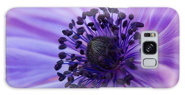Macro Of Lavender Purple Anemone Galaxy Case