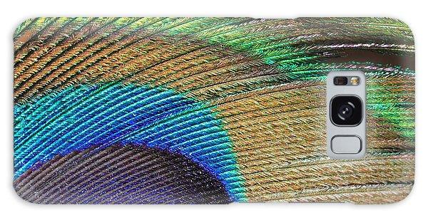 Macro Peacock Feather Galaxy Case