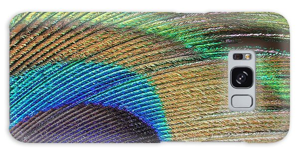 Macro Peacock Feather Galaxy Case