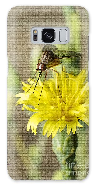 Macro Photography Of A Mosquito Over A Lettuce Flower Galaxy Case by Claudia Ellis