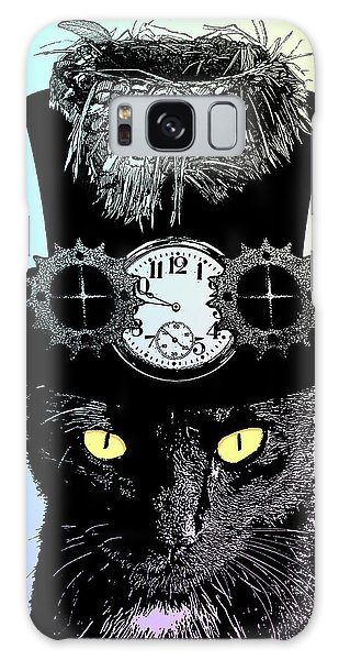 Mad Hatter Cat Galaxy Case