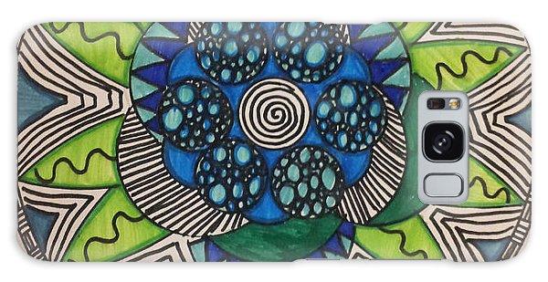 Mad Mandala Galaxy Case by Reneza Waddell