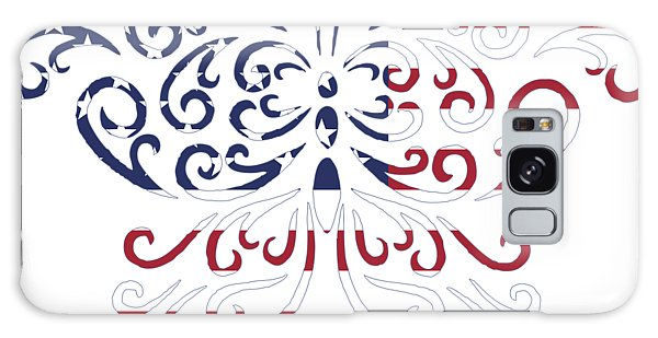 Made In The Usa Tribal Butterfly Galaxy Case