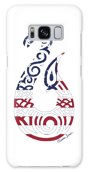 Made In The Usa Tribal Fish Hook Galaxy Case