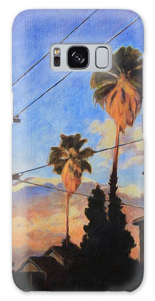 Madison Ave Sunset Galaxy Case by Andrew Danielsen