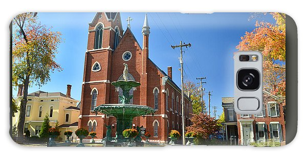 Madison Church And Water Fountain Galaxy Case