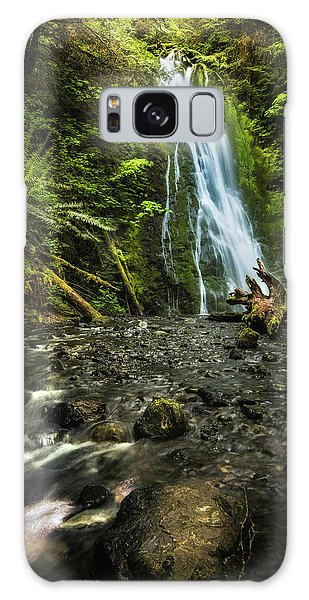 Galaxy Case featuring the photograph Madison Falls - An Elwha Sanctuary by Expressive Landscapes Fine Art Photography by Thom