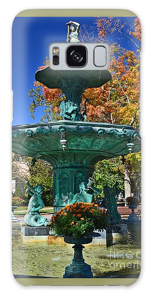 Madison Water Fountain In Fall Galaxy Case