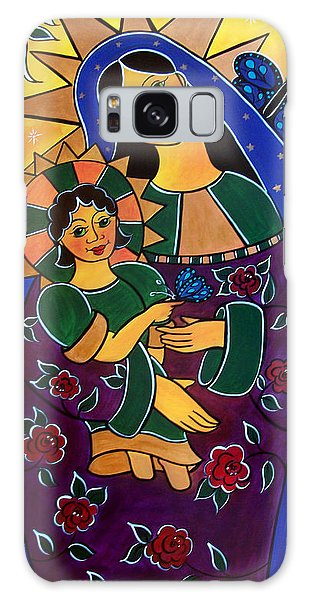 Galaxy Case featuring the painting Madonna And Child by Jan Oliver-Schultz