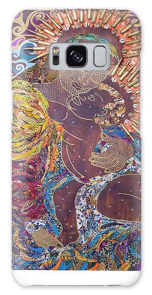 Madonna And Child The Sacred And Profane Galaxy Case by Apanaki Temitayo M