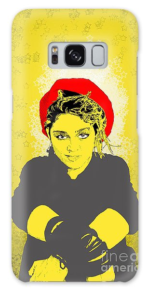 Madonna On Yellow Galaxy Case by Jason Tricktop Matthews
