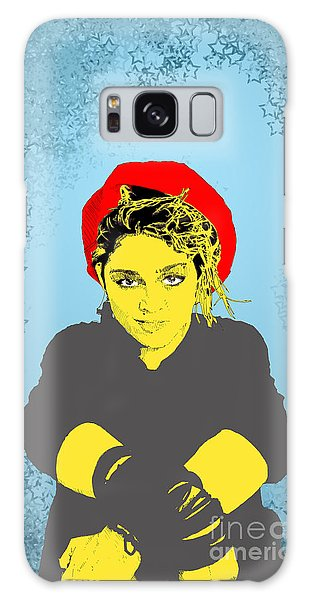 Madonna On Blue Galaxy Case by Jason Tricktop Matthews