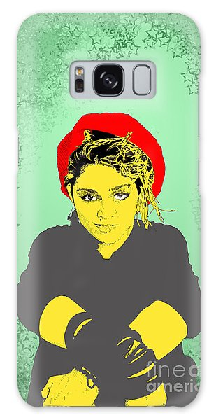 Madonna On Green Galaxy Case by Jason Tricktop Matthews