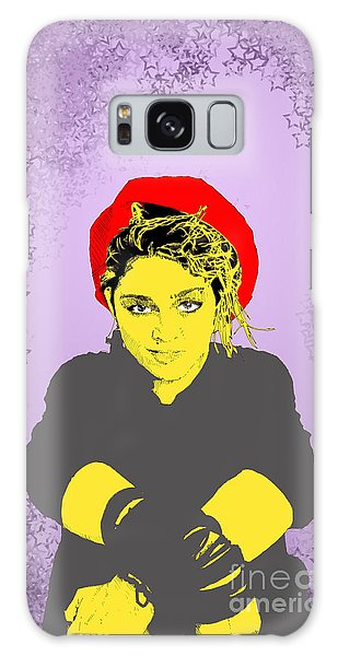 Madonna On Purple Galaxy Case by Jason Tricktop Matthews