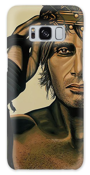 Mads Mikkelsen Painting Galaxy Case by Paul Meijering
