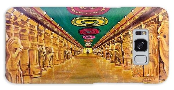 Madurai Meenakshi Temple Mandapam Galaxy Case by Brindha Naveen