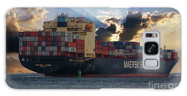 Maersk Sealand Leaving Charleston South Carolina Galaxy Case