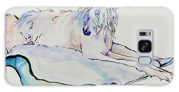 Watercolor Pet Portraits Galaxy Case - Maevis by Pat Saunders-White