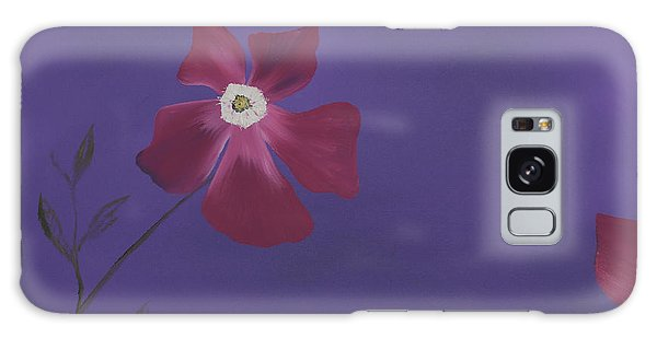 Magenta Flower On Plum Background Galaxy Case