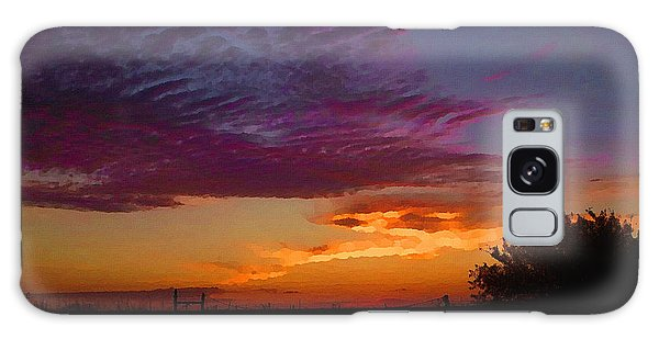 Galaxy Case featuring the digital art Magenta Morning Sky by Shelli Fitzpatrick