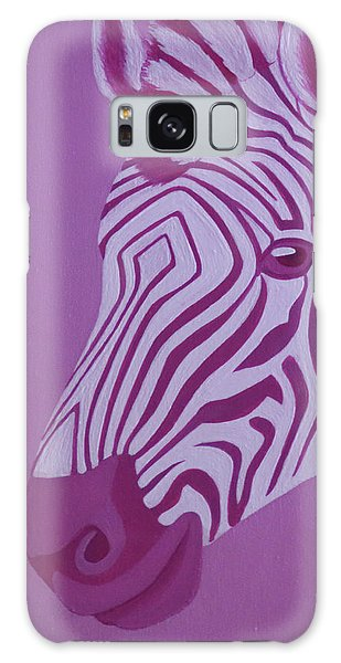 Magenta Zebra Galaxy Case