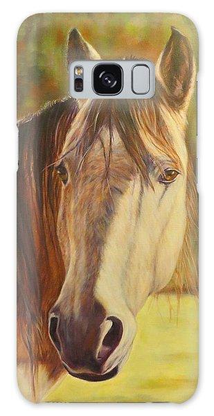 Maggie, Horse Portrait Galaxy Case