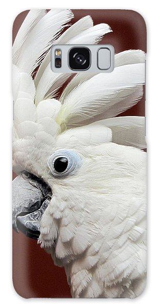 Maggie The Umbrella Cockatoo Galaxy Case