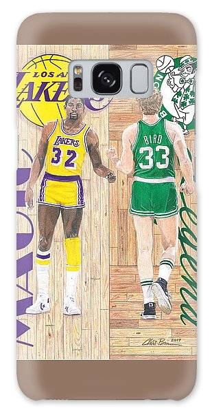 Magic Johnson And Larry Bird Galaxy Case