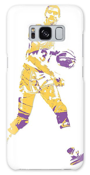 Magic Johnson Los Angeles Lakers Pixel Art 5 Galaxy Case