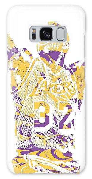 Magic Johnson Los Angeles Lakers Pixel Art 7 Galaxy Case