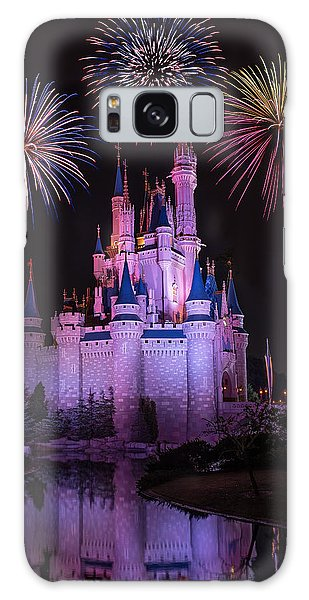 Magic Kingdom Castle Under Fireworks Galaxy Case