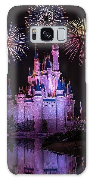 Walt Disney Galaxy Case - Magic Kingdom Castle Under Fireworks by Chris Bordeleau