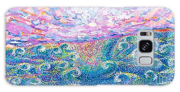 Strange Clouds Galaxy Case - Magic Moon And Sea Swell by Expressionistart studio Priscilla Batzell