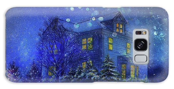 Magical Blue Nocturne Home Sweet Home Galaxy Case