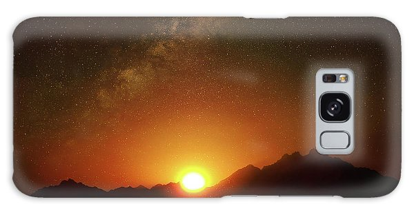 Magical Milkyway Above The African Mountains Galaxy Case