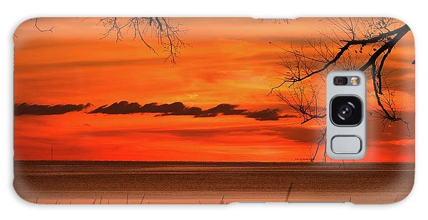 Magical Orange Sunset Sky Galaxy Case