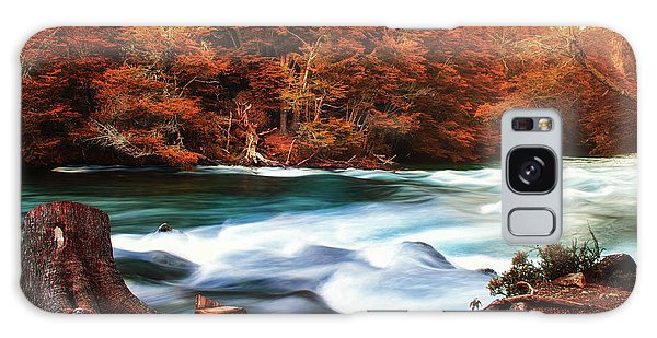 Autumnal Landscape With Lake In The Argentine Patagonia Galaxy Case