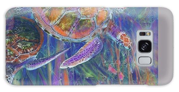 Magical Sea Turtles  Galaxy Case by Julianne Ososke