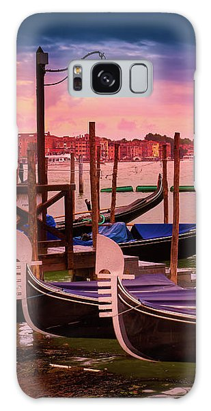 Magical Sunset In Venice Galaxy Case