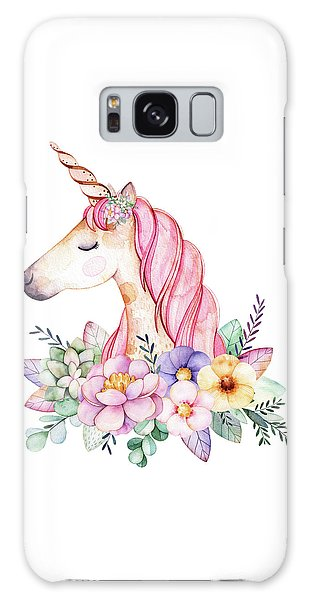 Girl Galaxy Case - Magical Watercolor Unicorn by Lisa Spence