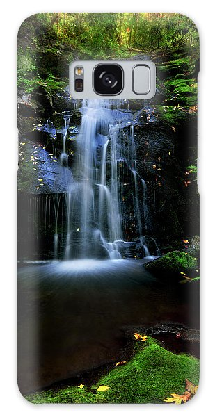 Magical Waterfall Above Spruce Falls In Tremont Smoky Mountains Tennessee  Galaxy Case