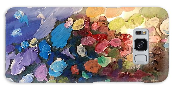 Magnetic Paint Palette Galaxy Case by Tanielle Childers