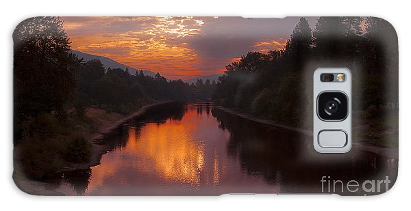 Magnificent Clouds Over Rogue River Oregon At Sunset  Galaxy Case