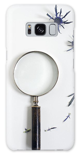 Magnifying Glass And Blue Thistle Galaxy Case