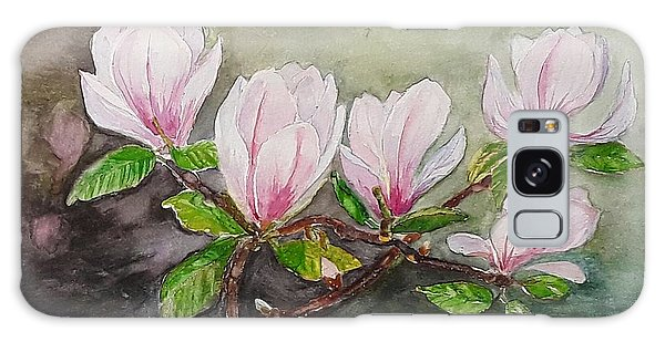 Magnolia Blossom - Painting Galaxy Case by Veronica Rickard