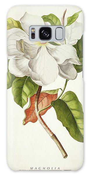 Botanical Garden Galaxy Case - Magnolia Botanical Print by Aged Pixel