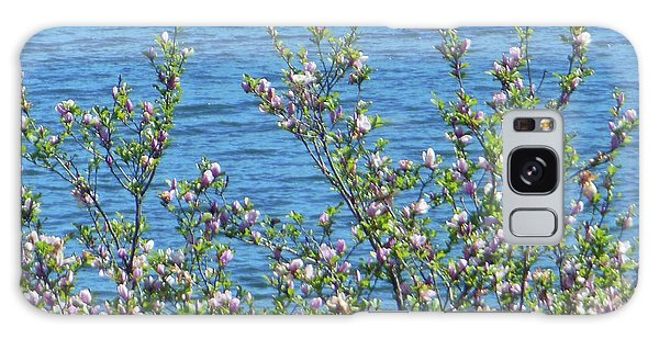 Magnolia Flowering Tree Blue Water Galaxy Case